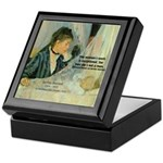 Female Artist Morisot Quote Keepsake Box