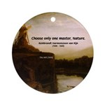 Rembrandt Painting & Quote Ornament (Round)