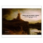 Rembrandt Painting & Quote Small Poster