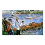 Renoir Painting: Art & Beauty Sticker (Rectangular