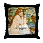 Renoir Impressionist Nude Throw Pillow