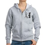 Hope Ribbon Diabetes Women's Zip Hoodie