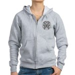 Tattoo Butterfly Diabetes Women's Zip Hoodie