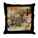 Renoir Quote and Landscape Throw Pillow