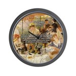 Renoir Quote and Landscape Wall Clock
