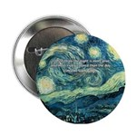 Starry Night Vincent Van Gogh Button