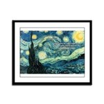 Starry Night Vincent Van Gogh Framed Panel Print