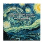 Starry Night Vincent Van Gogh Tile Coaster