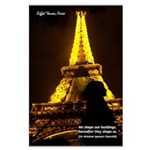 Art Architecture Eiffel Tower Large Poster