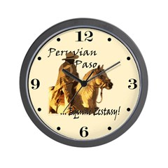 Peruvian Paso Ecstasy Wall Clock for Home and Office