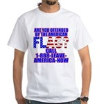 Offended By America White T-Shirt
