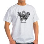 Diabetes Tribal Butterfly Light T-Shirt