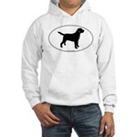 Black Lab Outline Hooded Sweatshirt