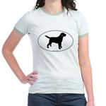 Black Lab Outline Jr. Ringer T-Shirt