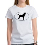 Black Lab Outline Women's T-Shirt