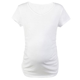White Custom Maternity T-shirt