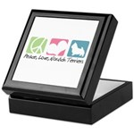 Peace, Love, Norwich Terriers Keepsake Box