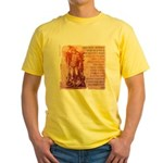 St. Michael Prayer in Latin Yellow T-Shirt