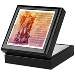St. Michael Prayer in Latin Keepsake Box