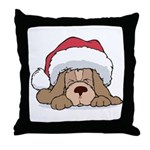 Santa Dog Throw Pillow