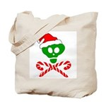 Christmas Santa Skull Tote Bag