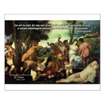 Intoxication Nietzsche Art Small Poster
