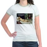 Freud Erotic Quote and Titian Jr. Ringer T-Shirt