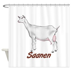Goat- Saanen Doe Shower Curtain