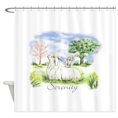 Goats- Angora Serenity Shower Curtain