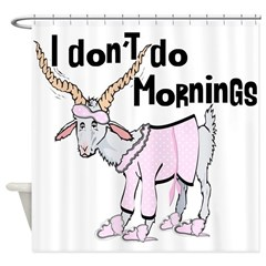 Morning Goat Shower Curtain