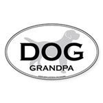DOG GRANDPA Oval Sticker