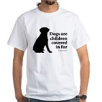 Dog Fur Children White T-Shirt