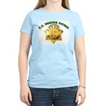 Border Patrol Badge Women's Pink T-Shirt