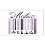 Priceless Mothers Rectangle Sticker