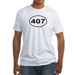 407 Orlando Area Code Oval Fitted T-Shirt