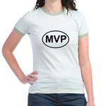 MVP Most Valuable Player Oval Jr. Ringer T-Shirt