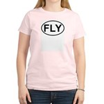Fly Pilot Flying European Oval Women's Light T-Shi