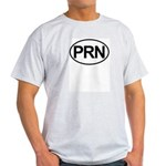 PRN As Needed Medical Oval Light T-Shirt