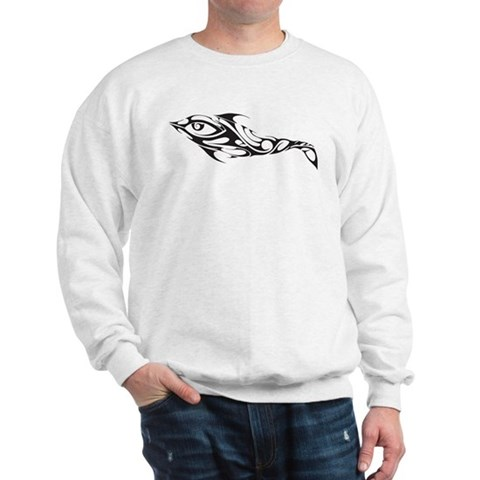 tribal dolphin tattoo. CafePress gt; Sweatshirts amp; Hoodies gt; Tribal Dolphin Tattoo Sweatshirt. Tribal Dolphin Tattoo Sweatshirt