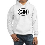 GIN Alcohol Booze Drink Oval Hooded Sweatshirt