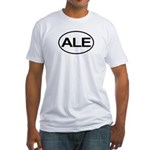 ALE Beer Lager Brew European Oval Fitted T-Shirt