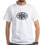 Snowflake Winter European Oval White T-Shirt