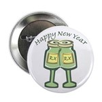 "Happy New Years Toast 2.25"" Button (10 pack)"