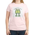 Happy New Years Toast Women's Pink T-Shirt