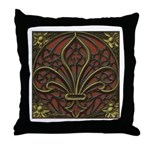 Gothic Fleur-de-lys Throw Pillow