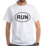 Run Runner Running Track Oval White T-Shirt