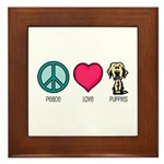 Peace Love & Labs Framed Tile
