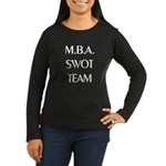 MBA SWOT Team Women's Long Sleeve Brown T-Shirt