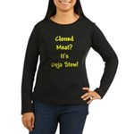 Cloned Meat Deja Women's Long Sleeve Black T-Shirt