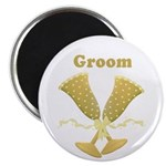 "Golden Groom 2.25"" Magnet (10 pack)"